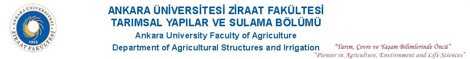 Tarımsal Yapılar ve Sulama